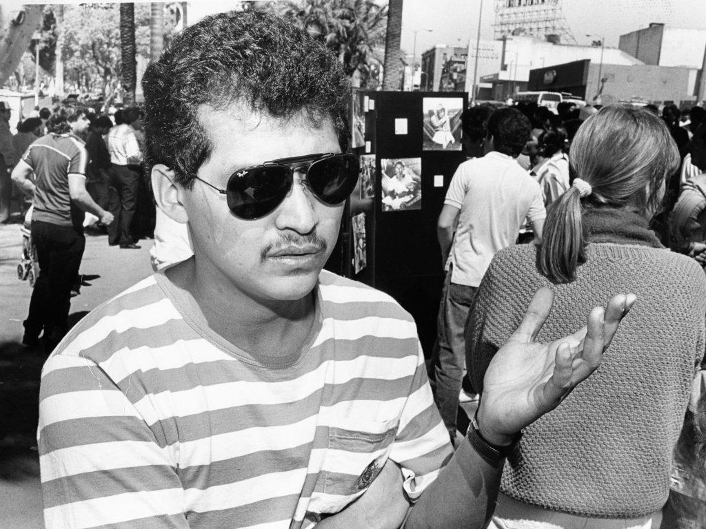 El Salvadoran refugees protest