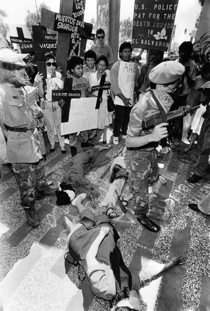 Protesters at El Salvador Consulate