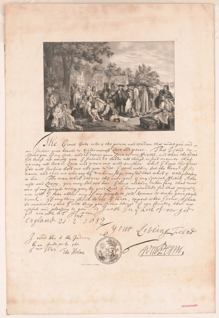 Treaty between William Penn and the Indians