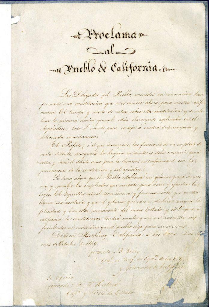 Constitucion del estado de California
