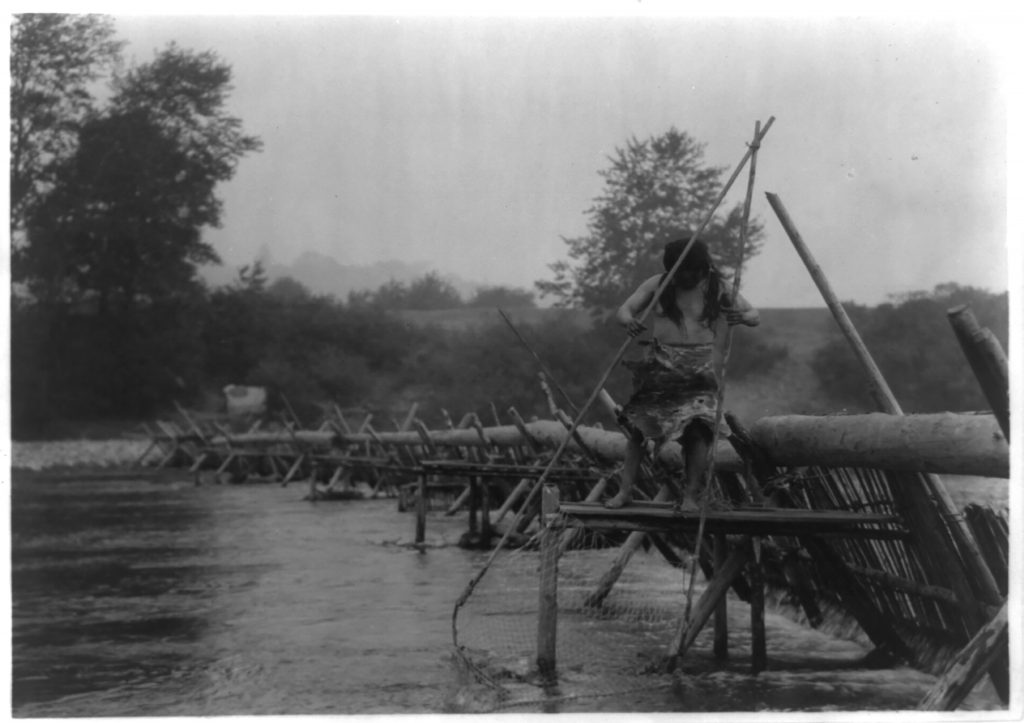 Fish-weir across Trinity River–Hupa