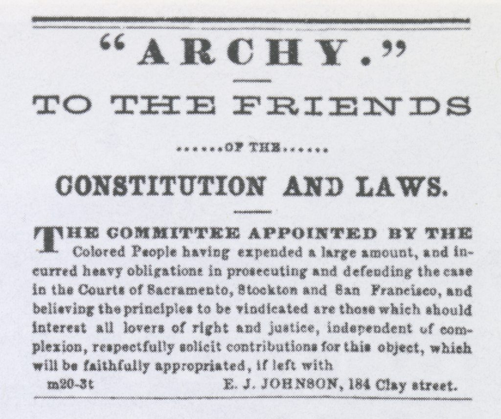 """Archy"" To The Friends (1858)"