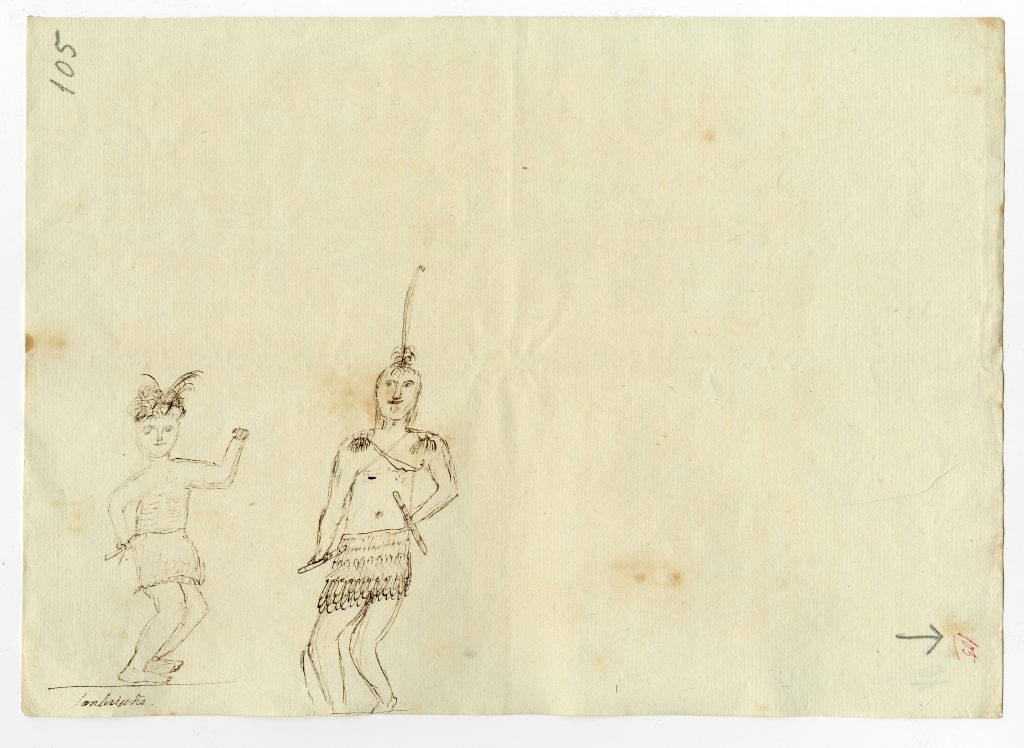 Pablo Tac's drawing of Luiseno Indian Dancers