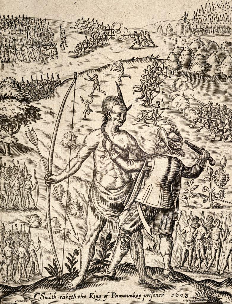John Smith capturing a Powhatan