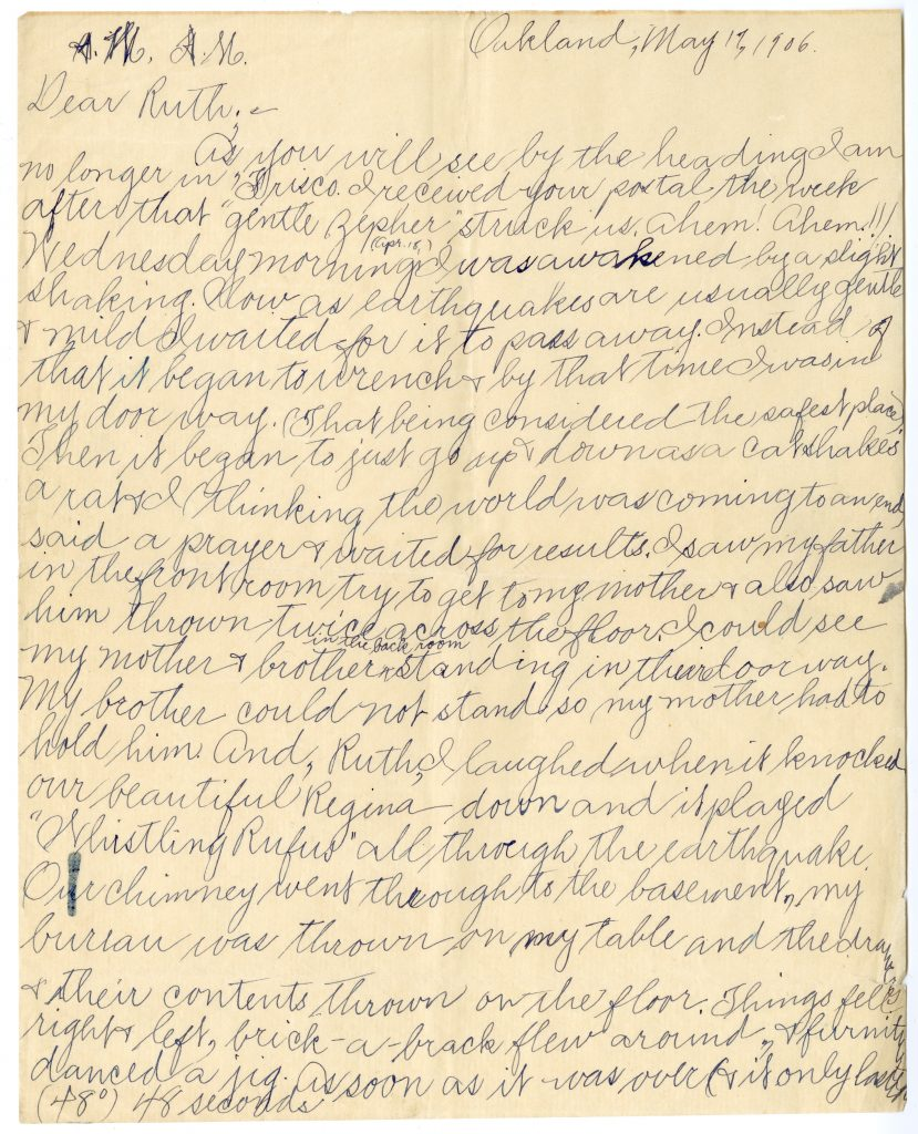 Letter written by Elsie Cross to Ruth (page 1 of 4)