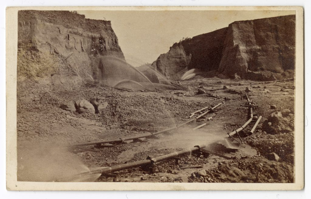 No. 798: Hydraulic Mining, Timbuctoo Diggings, Yuba County.
