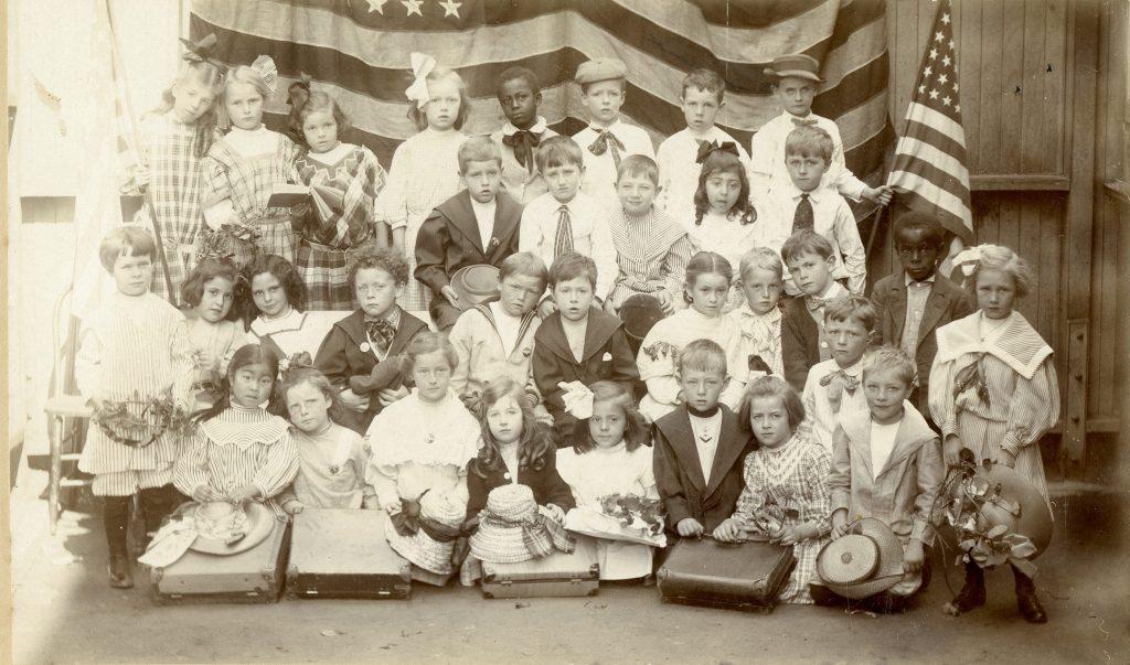 Group portrait of Dudley Stone schoolchildren