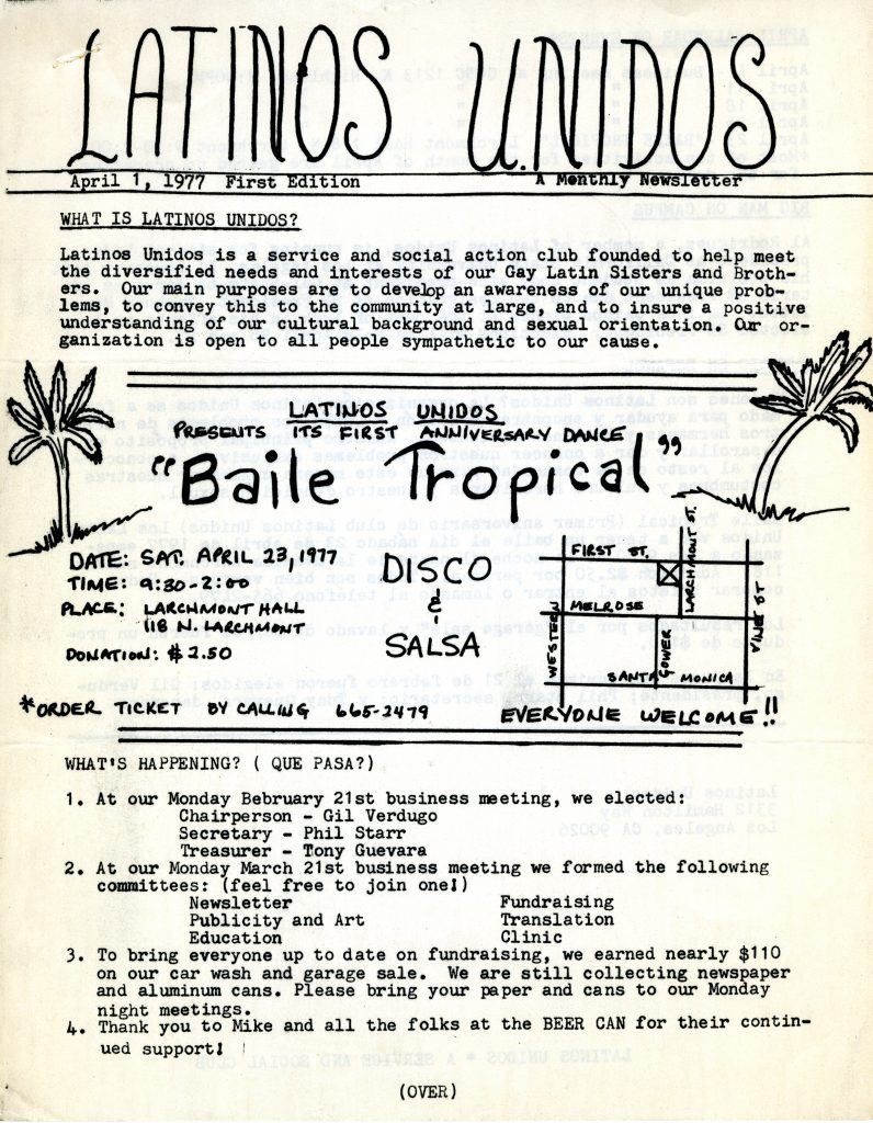 Latinos Unidos Newsletter, April 1, 1977