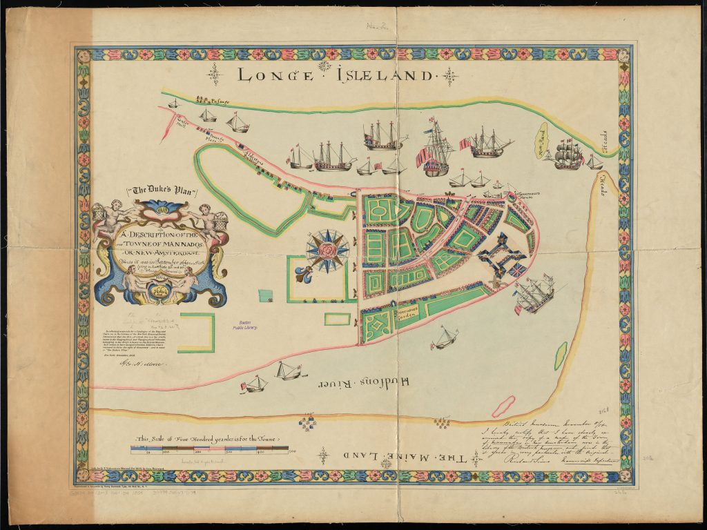 A description of the towne of Mannados or New Amsterdam : as it was in September, 1661, lying in lattitude 40 de. and 40 m., anno domini 1664