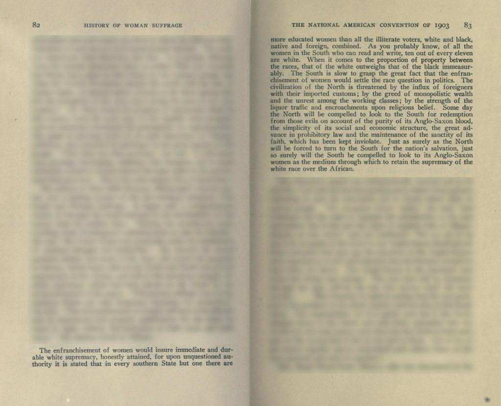 Belle Kearney speech excerpt (1903), from The History of Woman Suffrage