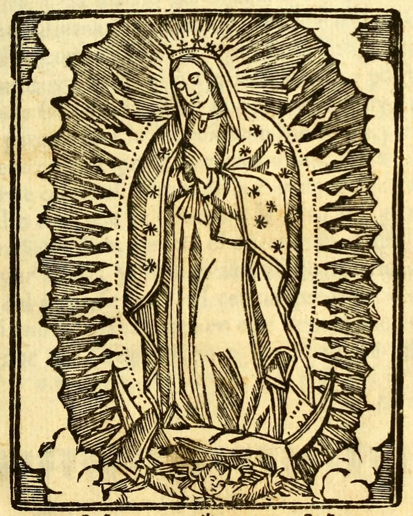 Detail of Frontispiece and Aparicion, Our Lady of Guadalupe