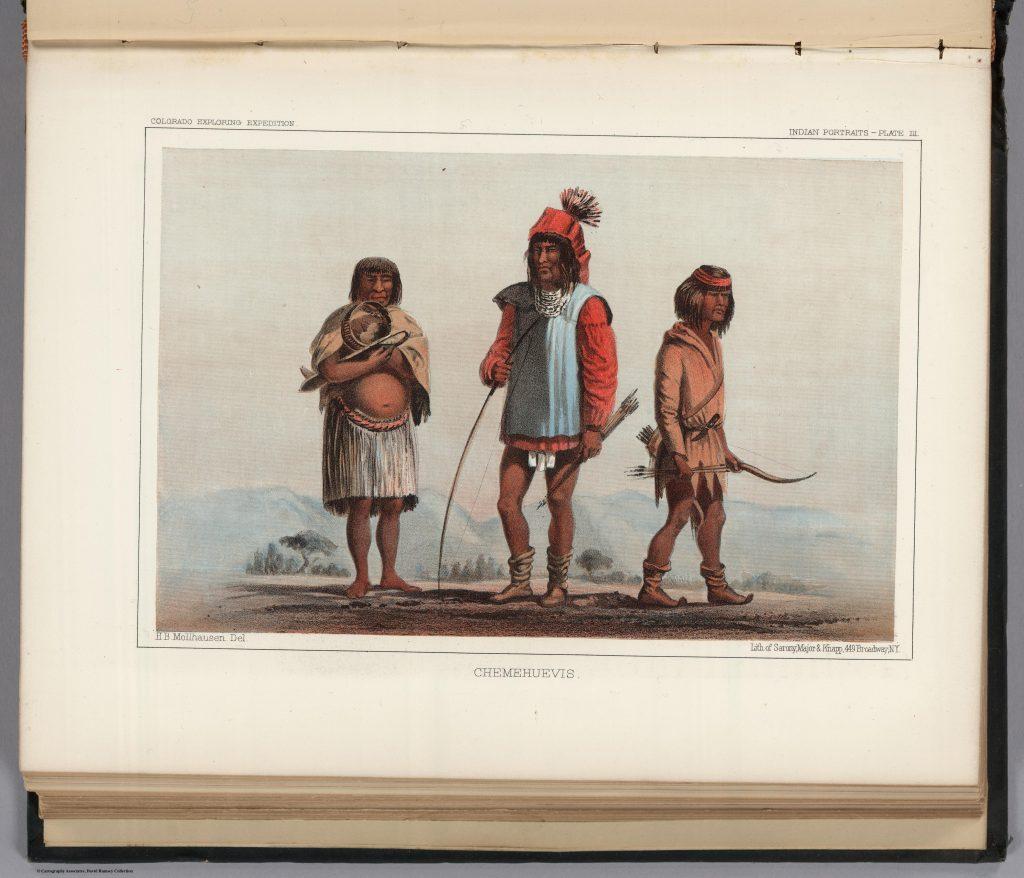 3.2.11 Chemehuevis. Colorado Exploring Expedition. Indian Portraits, Plate III