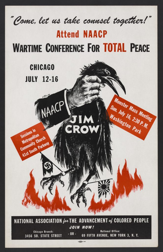 Come, let us take counsel together Attend NAACP Wartime Conference for Total Peace, Chicago, July 12-16