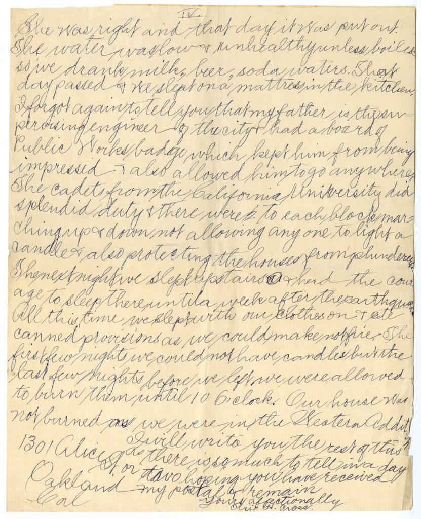 Letter written by Elsie Cross to Ruth (page 4 of 4)
