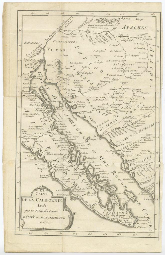 Carte de la Californie / levée par la Société des Jesuites