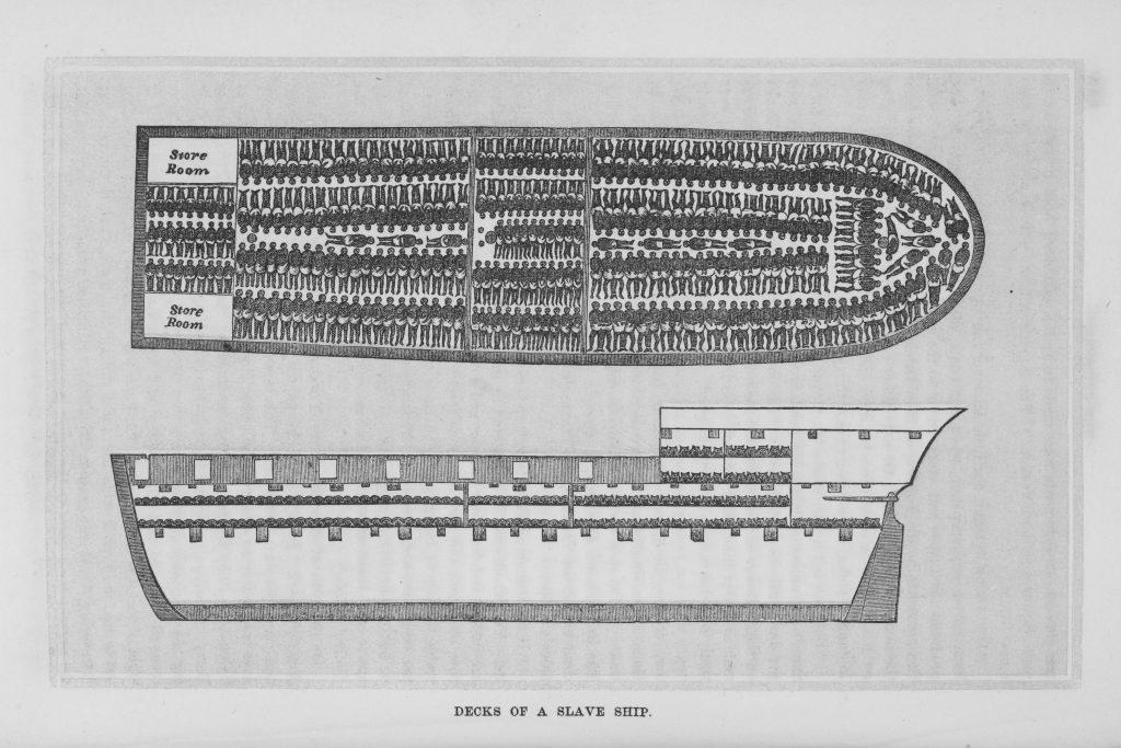 Decks of a slave ship.