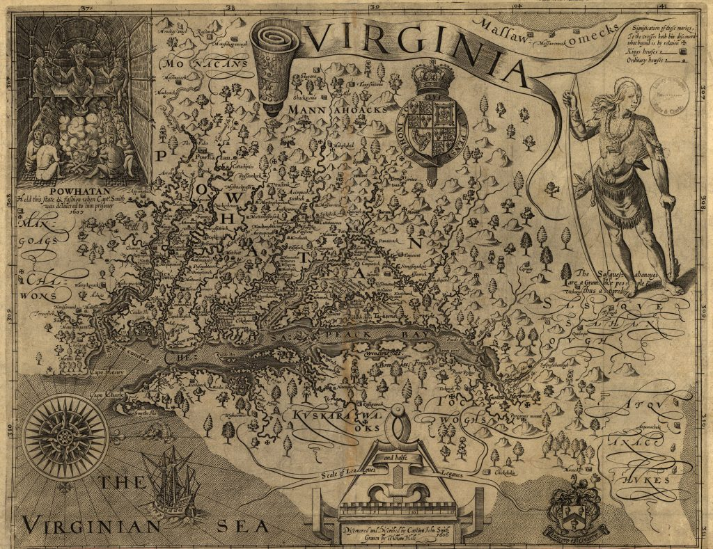 John Smith's Map of Virginia