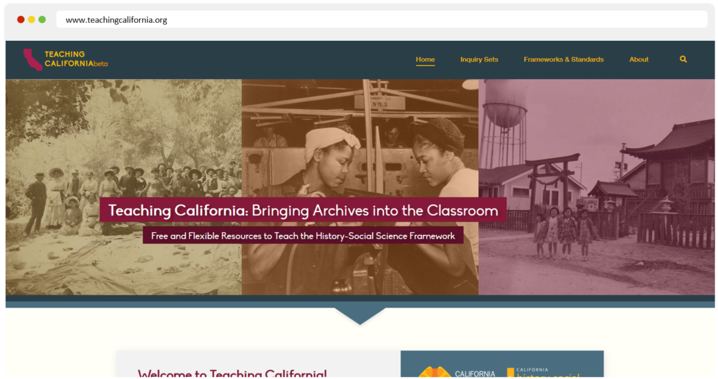 Welcome to the Teaching California Beta Website!