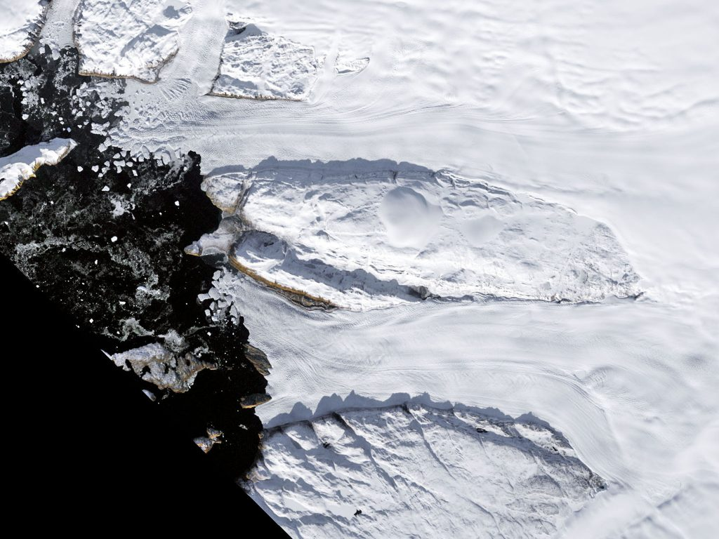 10.10b.1a Greenland's Tracy and Heilprin glaciers melt (1987)
