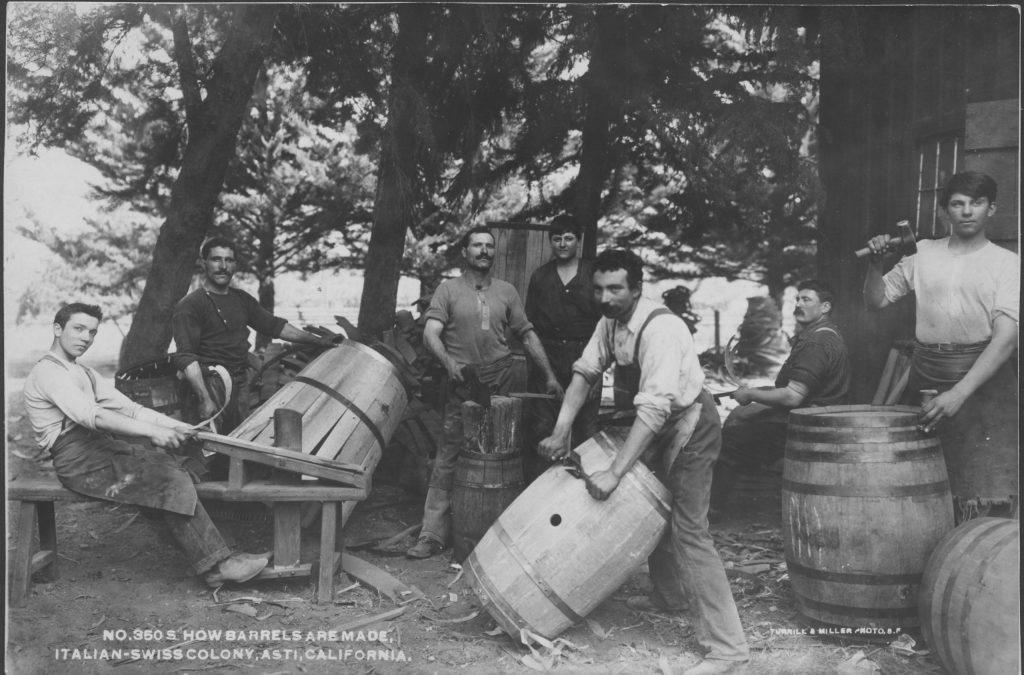 How Barrels Are Made, Italian-Swiss Colony, Asti, California