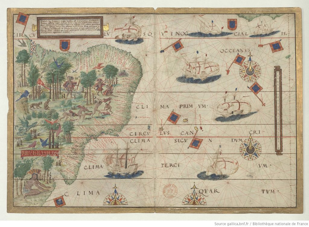 Nautical Atlas of the World, Folio 5 Recto, Southwestern Atlantic Ocean with Brazil