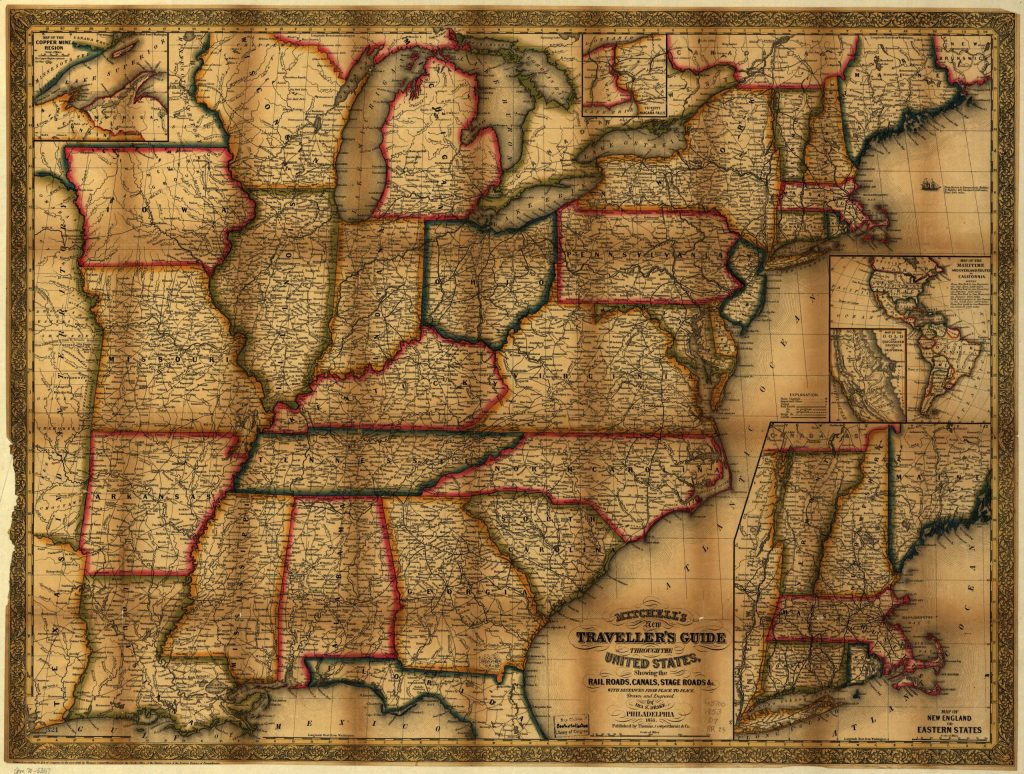 5.8.3 Mitchell's New Traveller's Guide through the United States