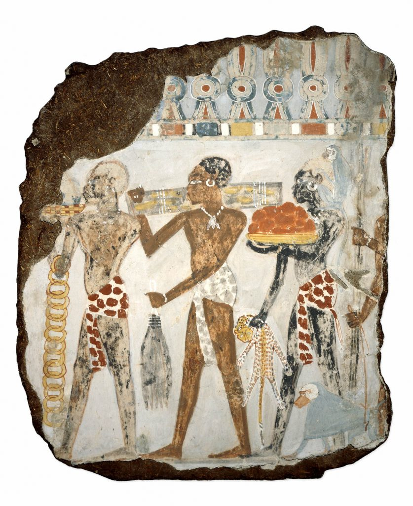Tomb Painting with Kushites Carrying Tribute