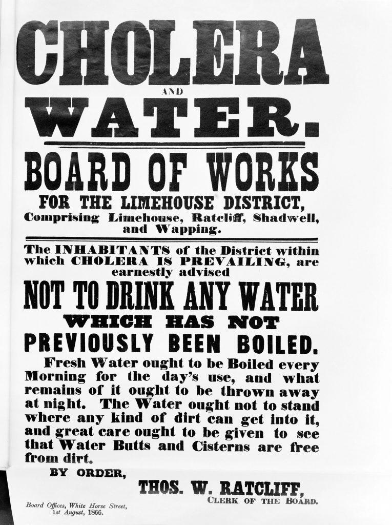Broadsheet: Cholera and Water, 1866