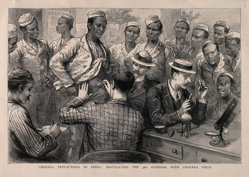 10.3.8 Cholera Vaccination of the Third Gurkhas in India at the time of the 1893 epidemic.