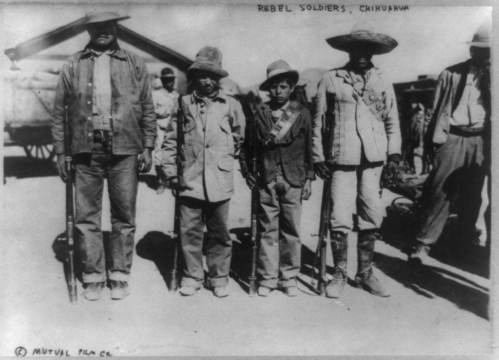 Carranzista rebels near Chihuahua