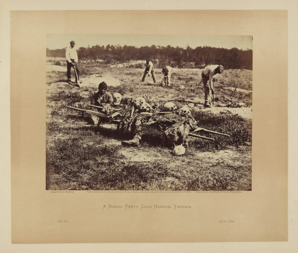 A burial party on the battle-field of Cold Harbor