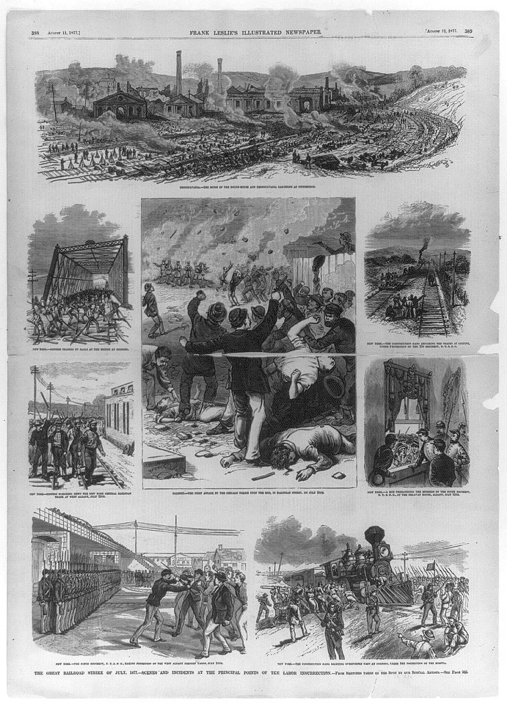 The great railroad strike of July 1877
