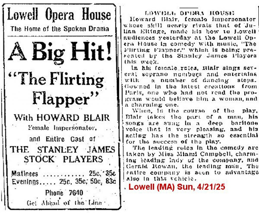"11.5.3 A Big Hit! ""The Flirting Flapper"" with Howard Blair"