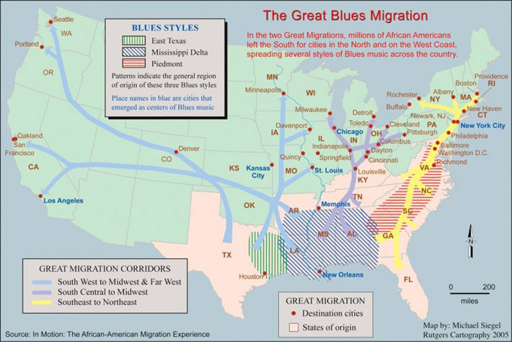 The Great Blues Migration