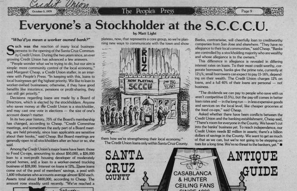 Everyone's a Stockholder at the S.C.C.C. U.