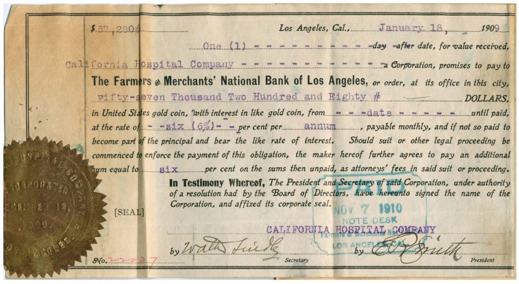 12E.2.6 Loan note from Farmers and Merchants National Bank