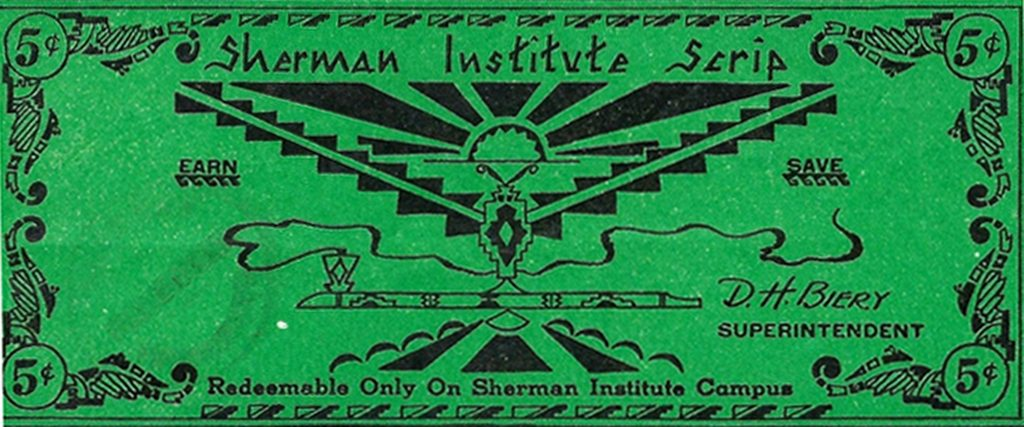 12AD.7.6 Sherman Institute Money