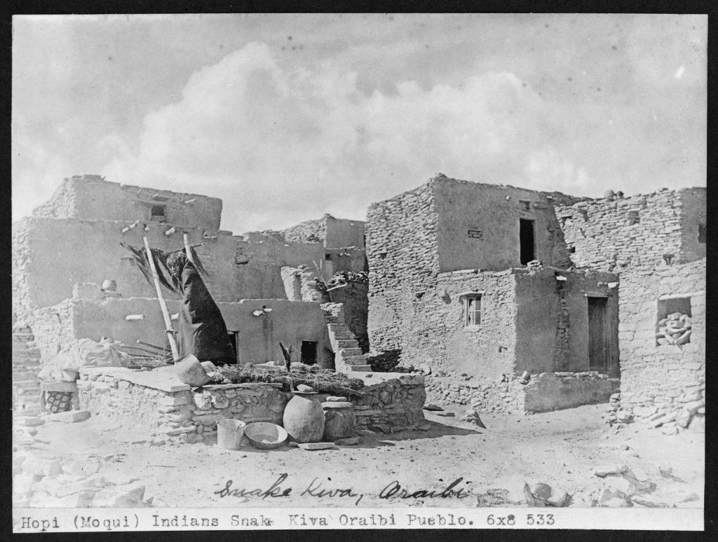 Hopi (Moqui) Indians snake kiva Oraibi Pueblo
