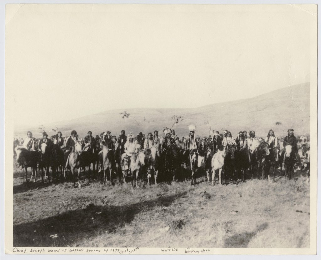 "Nez Perce group known as ""Chief Joseph's Band"", Lapwai, Idaho."
