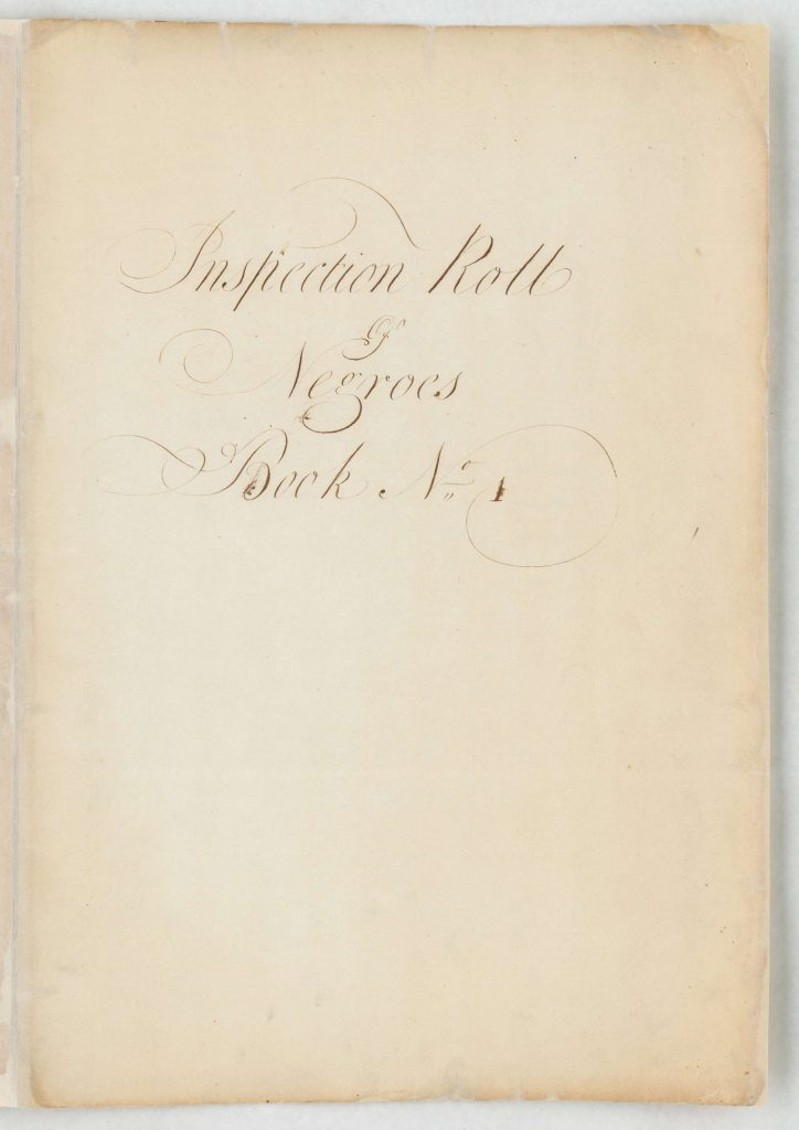 Inspection Roll of Negroes Book No. 1; 1783
