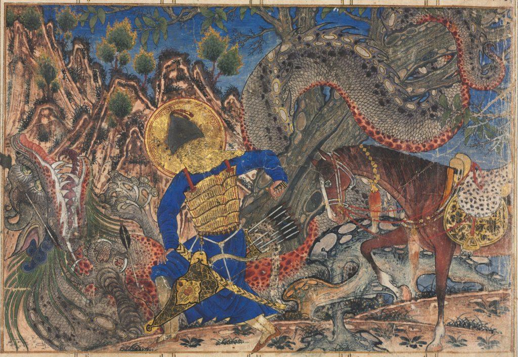 Bahram Gur Slays a Dragon