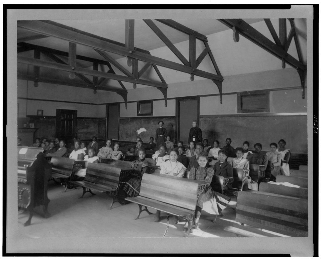 8.11.8 Students and teachers in training school of Fisk University, Nashville, Tennessee