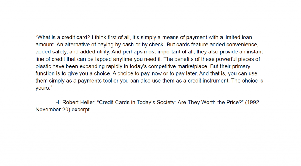 Credit Cards in Today's Society: Are They Worth the Price?