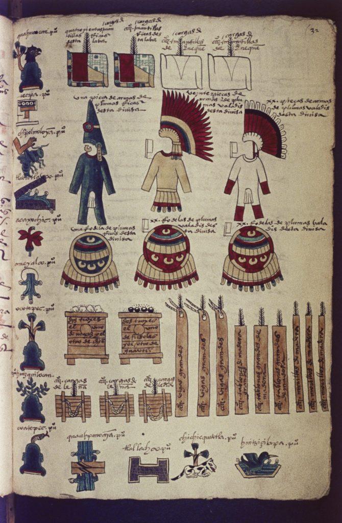 7.7.6 Codex Mendoza f. 32r: Tribute Record of Quahuacan