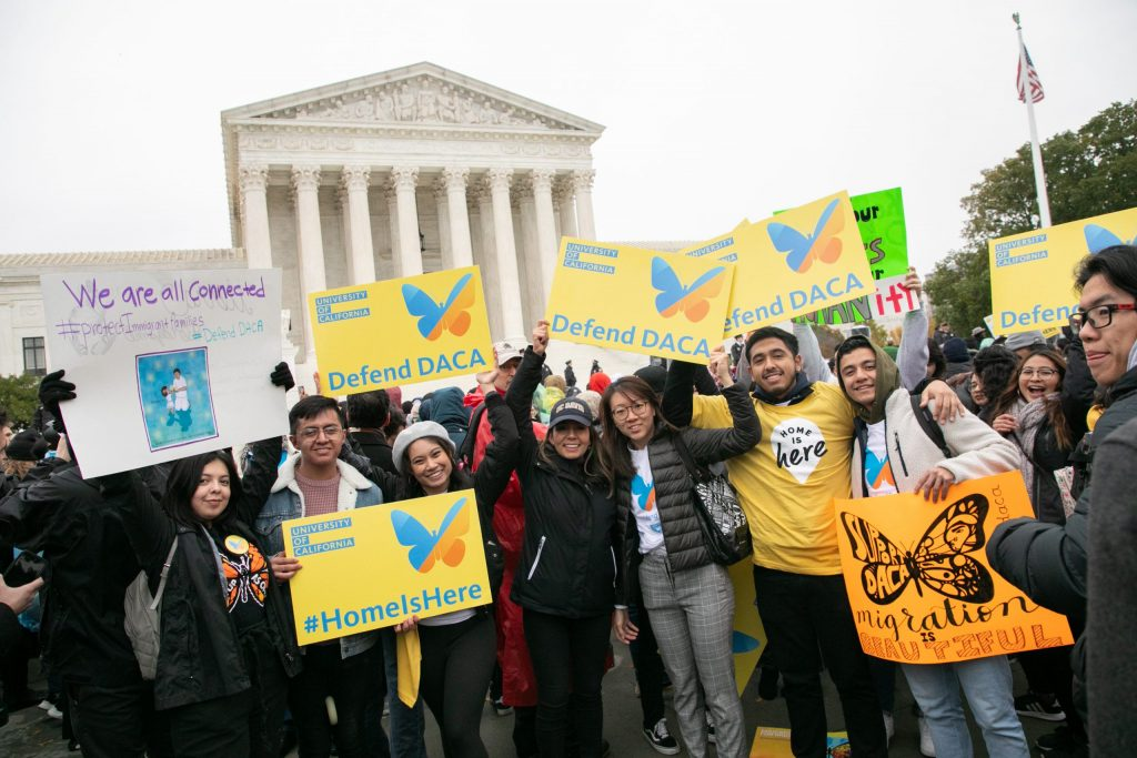 11.11.6a Students from across the country rally in front of the Supreme Court on Tuesday, Nov. 12, 2019