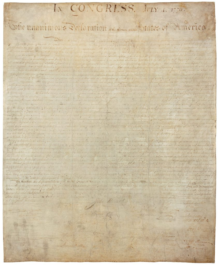 12AD.1.1 The Declaration of Independence (front)