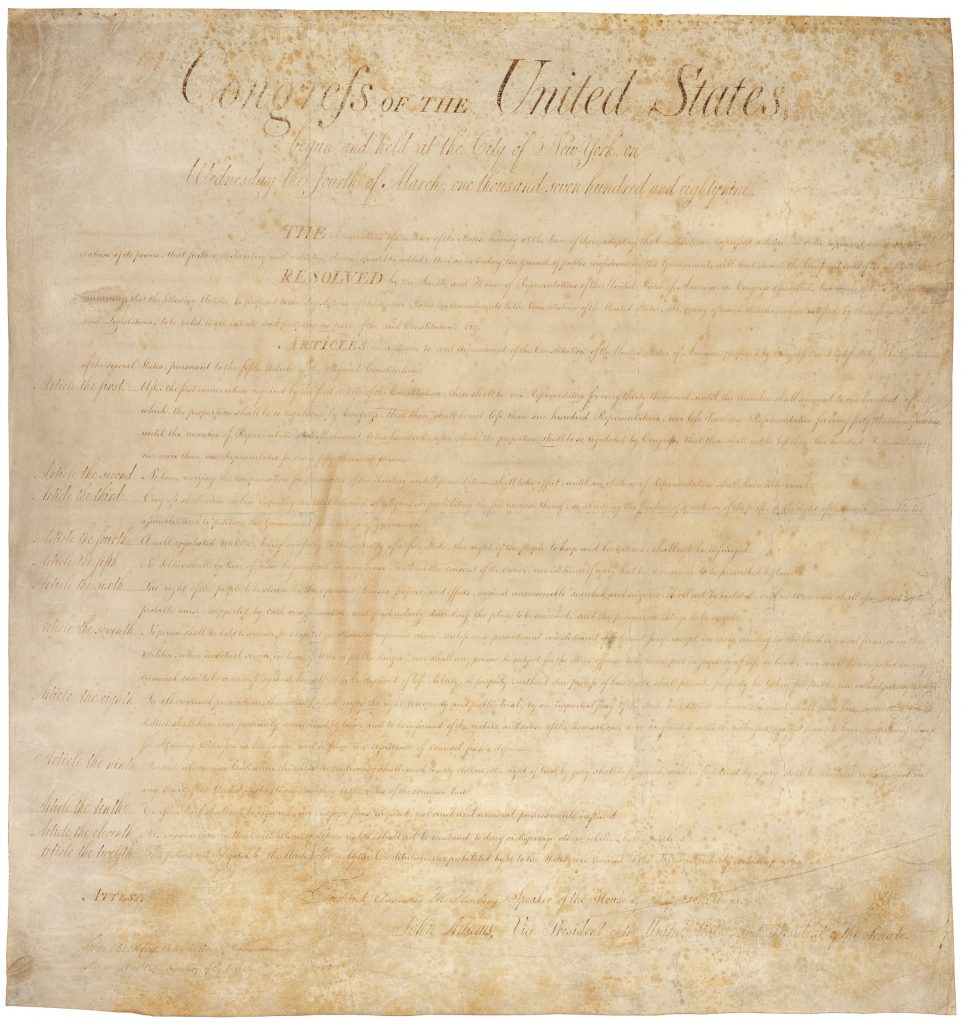 12AD.10.1 Bill of Rights