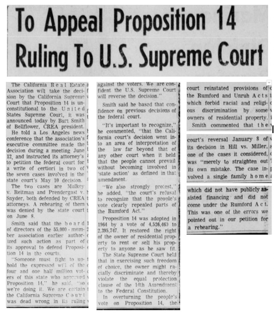 12AD.3.9 To Appeal Proposition 14 I Ruling To U.S. Supreme Court