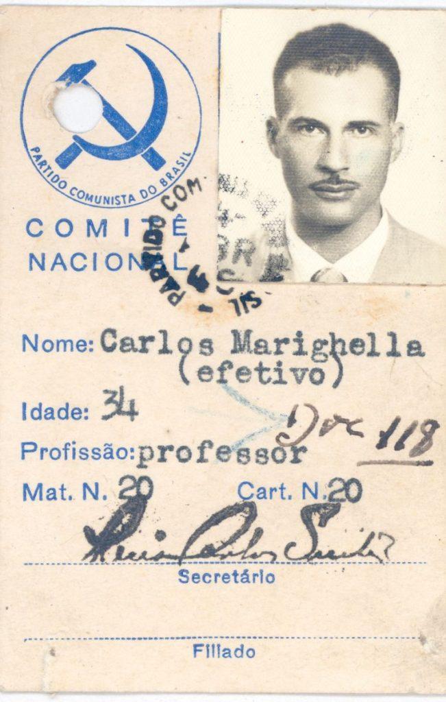 12AD.9.2b Marighella identification card, Communist Party of Brazil