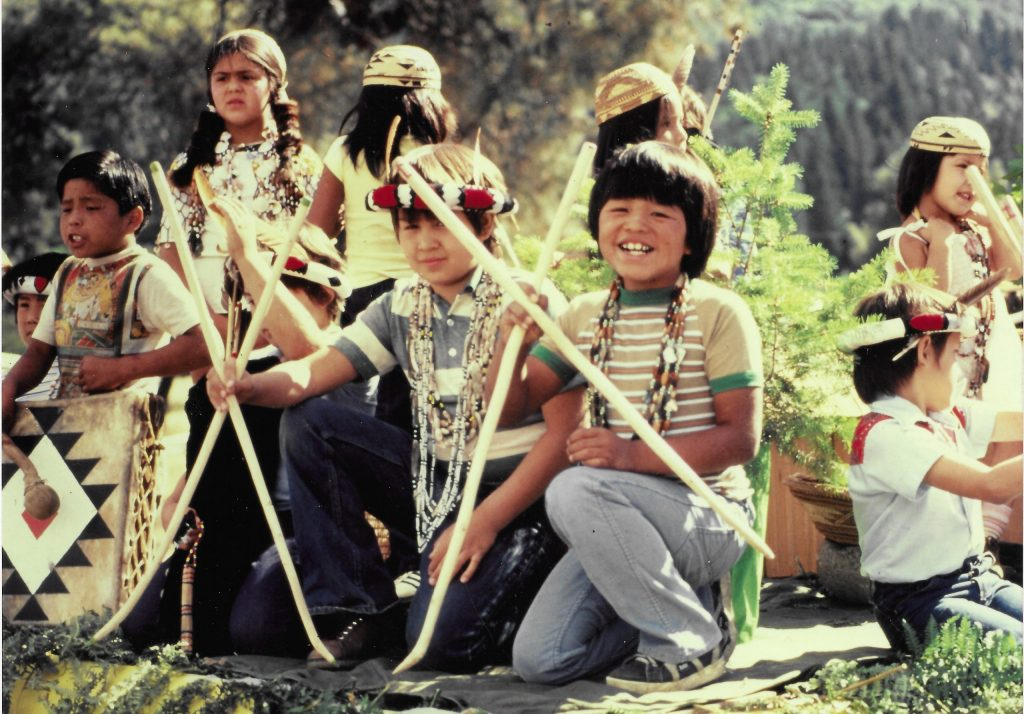 1.5.7 Hupa Children Participating in a Native American Pride Celebration on July 4